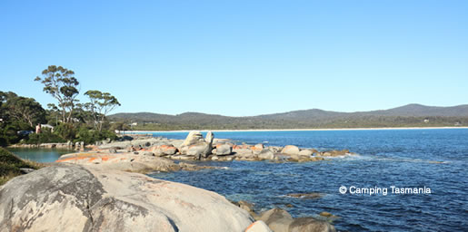 jeanneret beach camping bay of fires