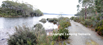 camping lake king william tasmania
